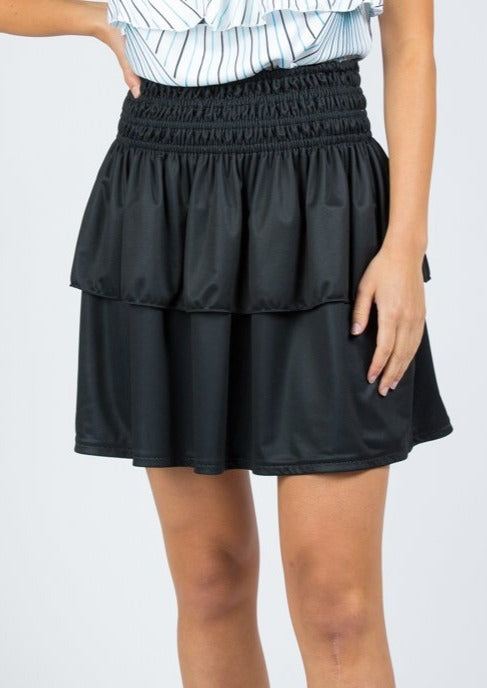 Reversible Mini Skirt in Miami Deco / Midnight Black
