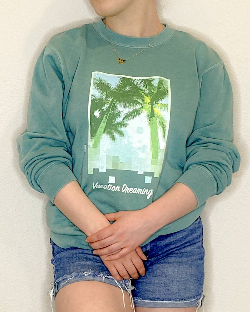 Vacation Dreaming Palm Tree Sweatshirt