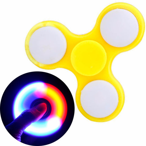 Spinner Amarillo Luz Led