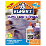 Slime Clear School Glue and Pink Glitter Glue, 4 Count