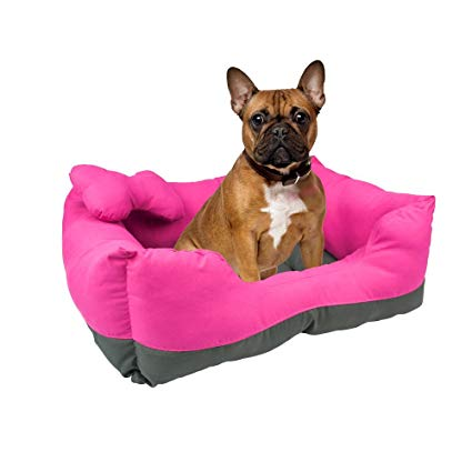 Fancy Pets Cama Rectangular, color Rosa/Gris para Mascota