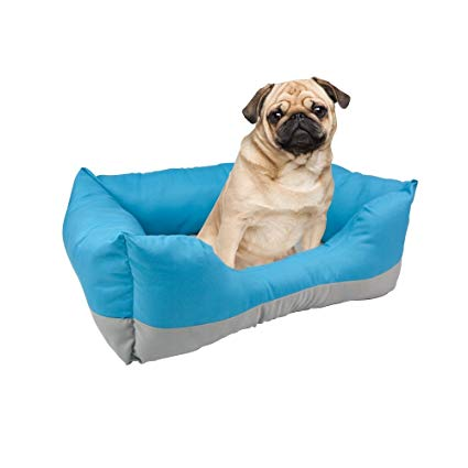 Fancy Pets Cama Rectangular, color Azul para Mascota