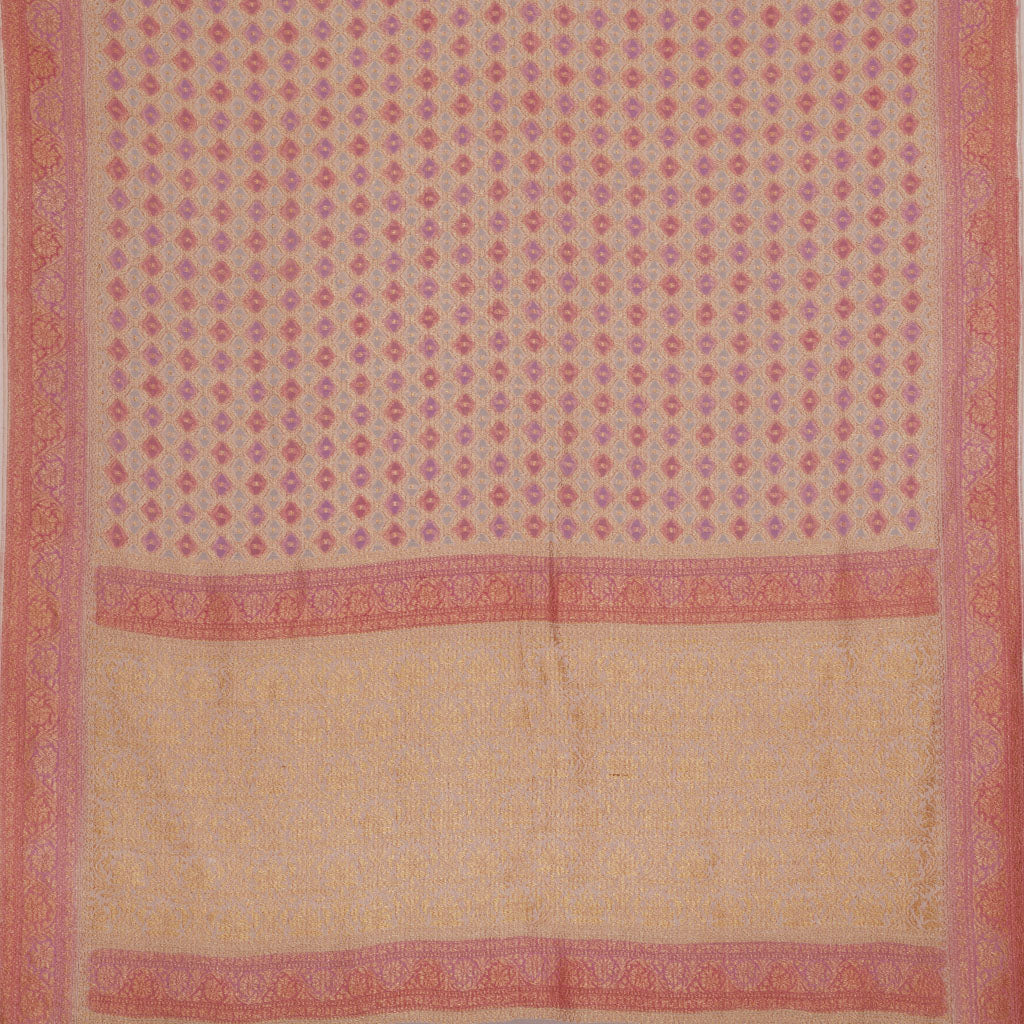092836-Shades Of Pink Banarasi Georgette Saree
