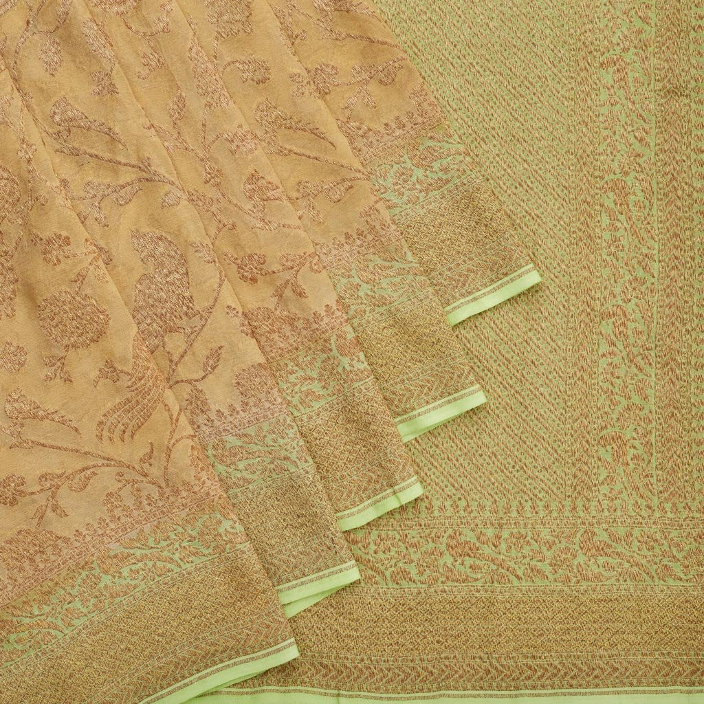 Sand Brown Banarasi Georgette Saree