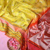 Buy Lemon Yellow Venkatagiri Silk Handloom Saree