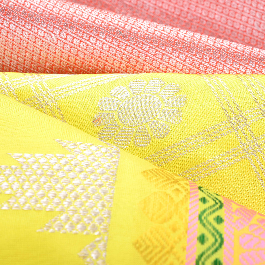Lemon Yellow Venkatagiri Silk Handloom Saree