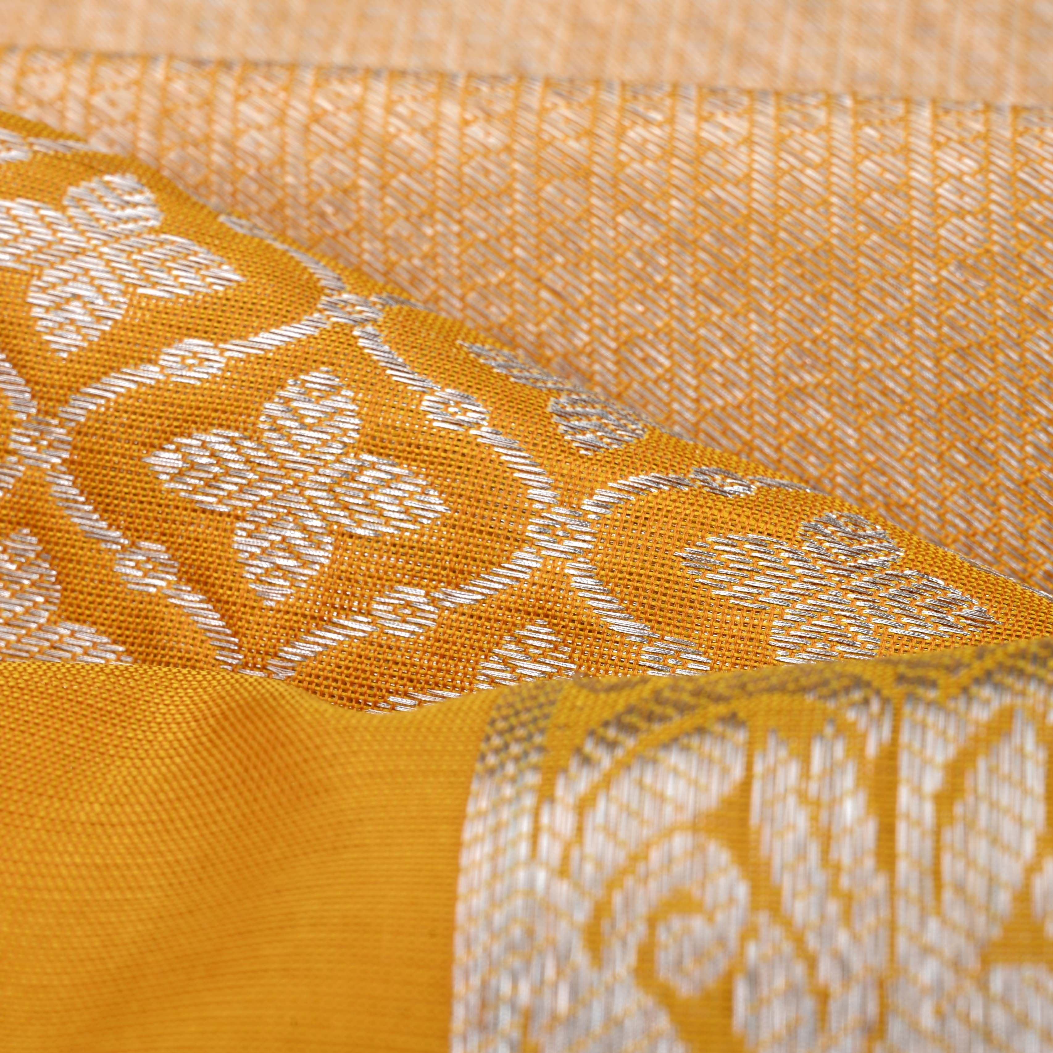 241973-Fiery Yellow Venkatagiri Silk Handloom Saree