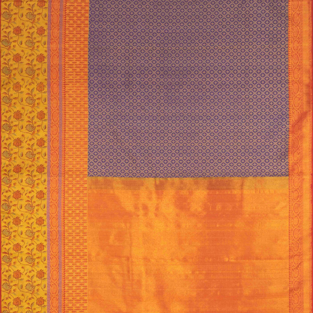 Royal Blue Kanjivaram Silk Handloom Saree With Rudraksh Motifs-246610 - Singhania's