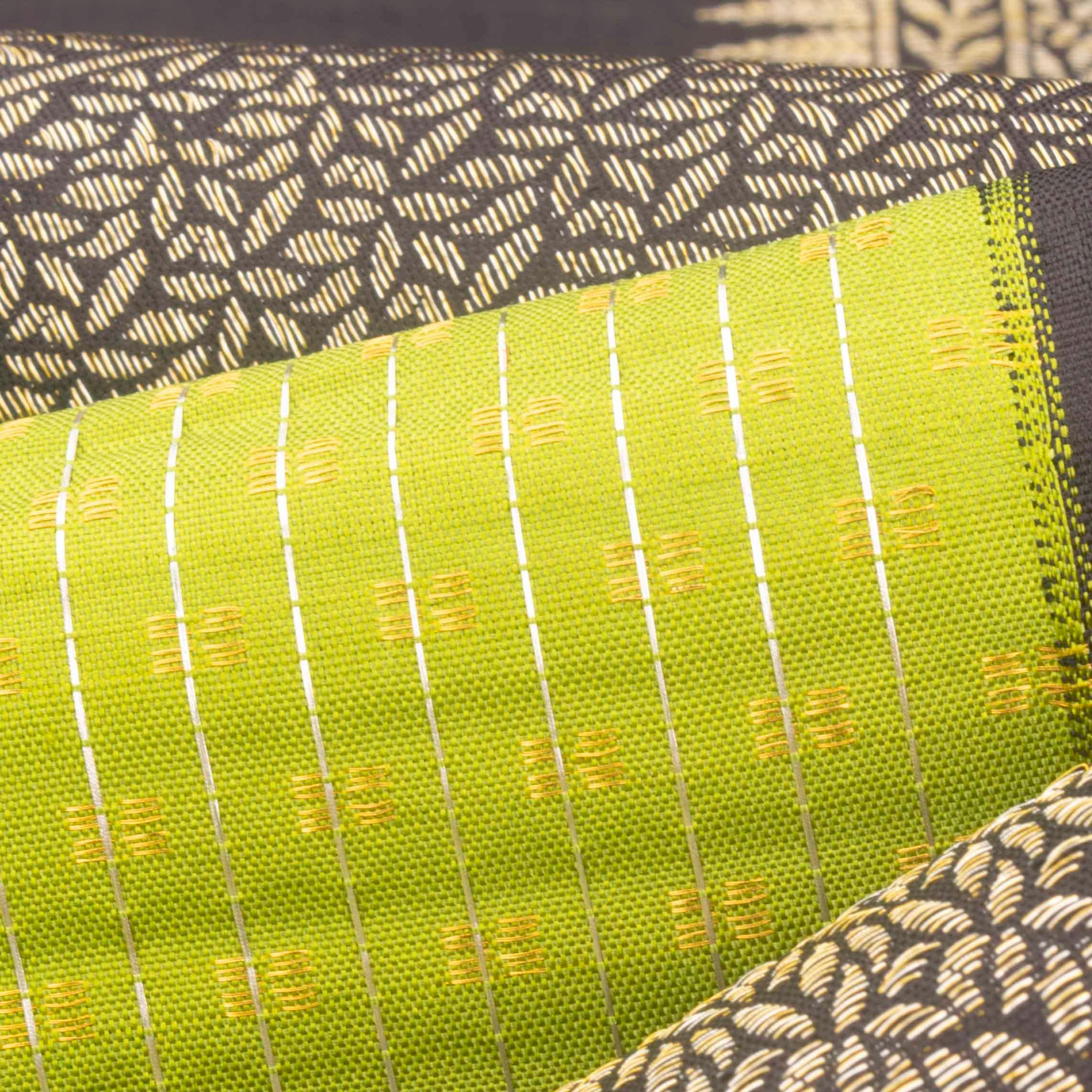 Lime Green Kanjivaram Silk Handloom Saree
