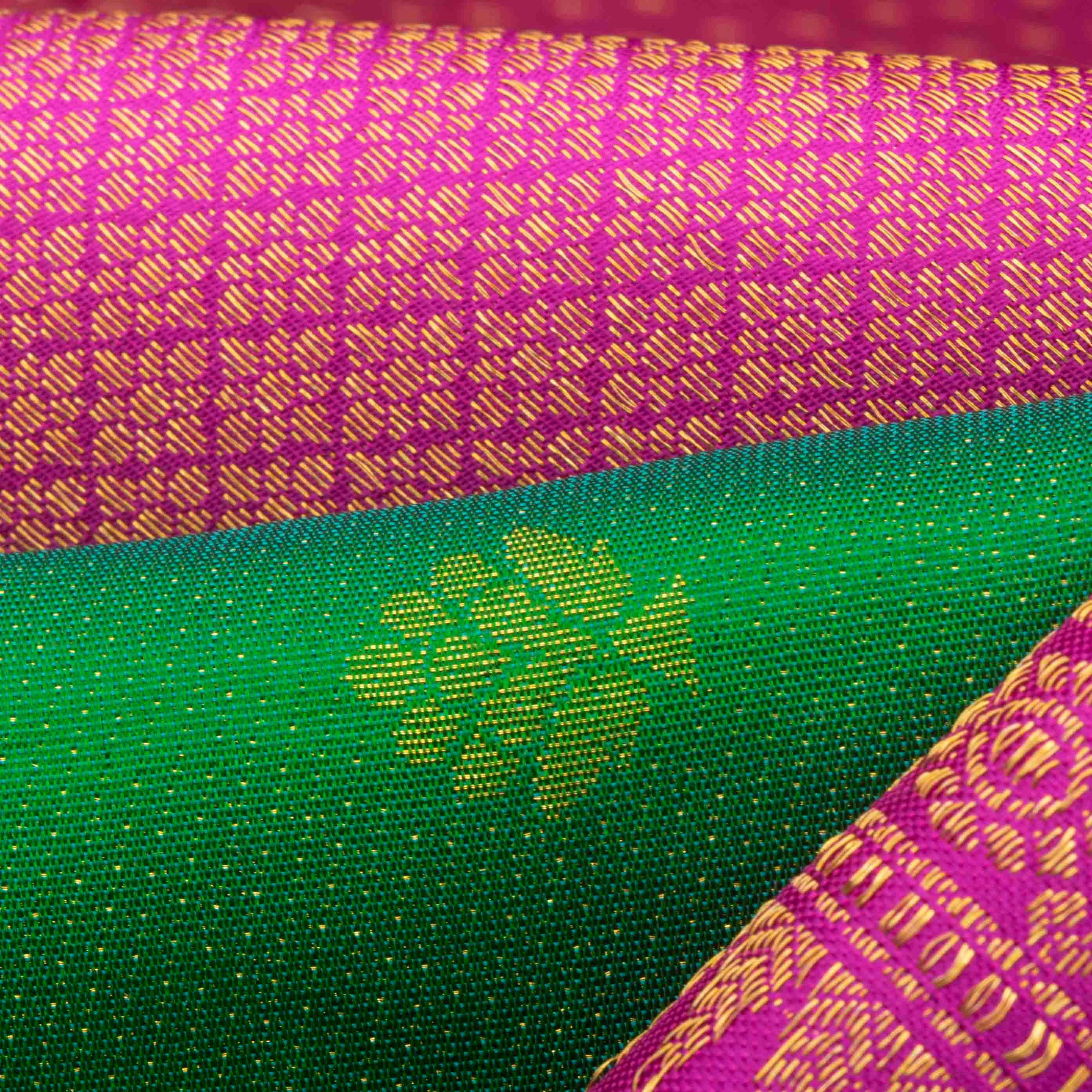 Deep Green Kanjivaram Silk Handloom Saree