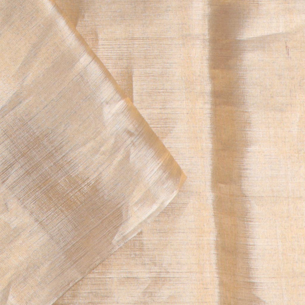 Pearl Pink Borderless Kanjivaram Silk Handloom Saree