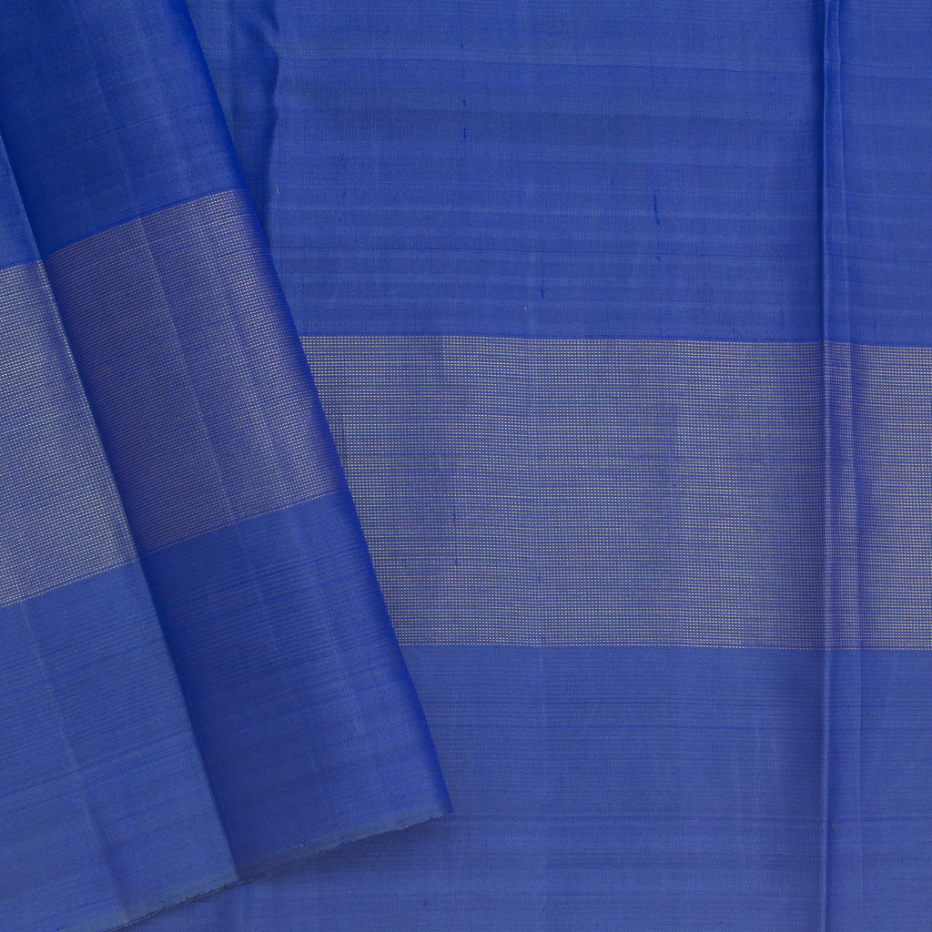 Shades Of Blue Kanjivaram Silk Handloom Saree With With Checks