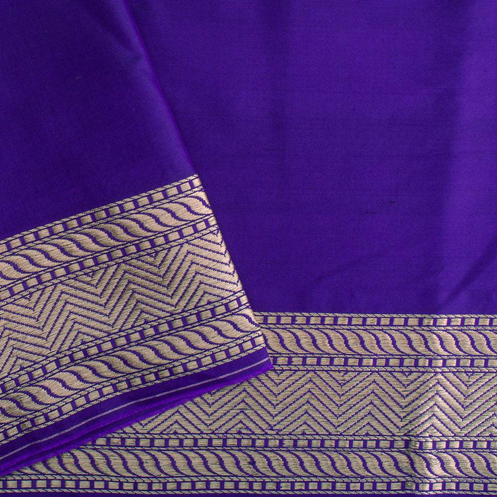 BB076817-Blue Violet Banarasi Silk Handloom Saree