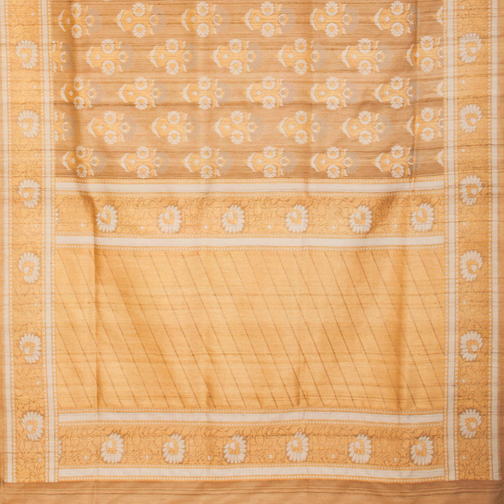 Pastel Orange Banarasi Tussar Handloom Saree