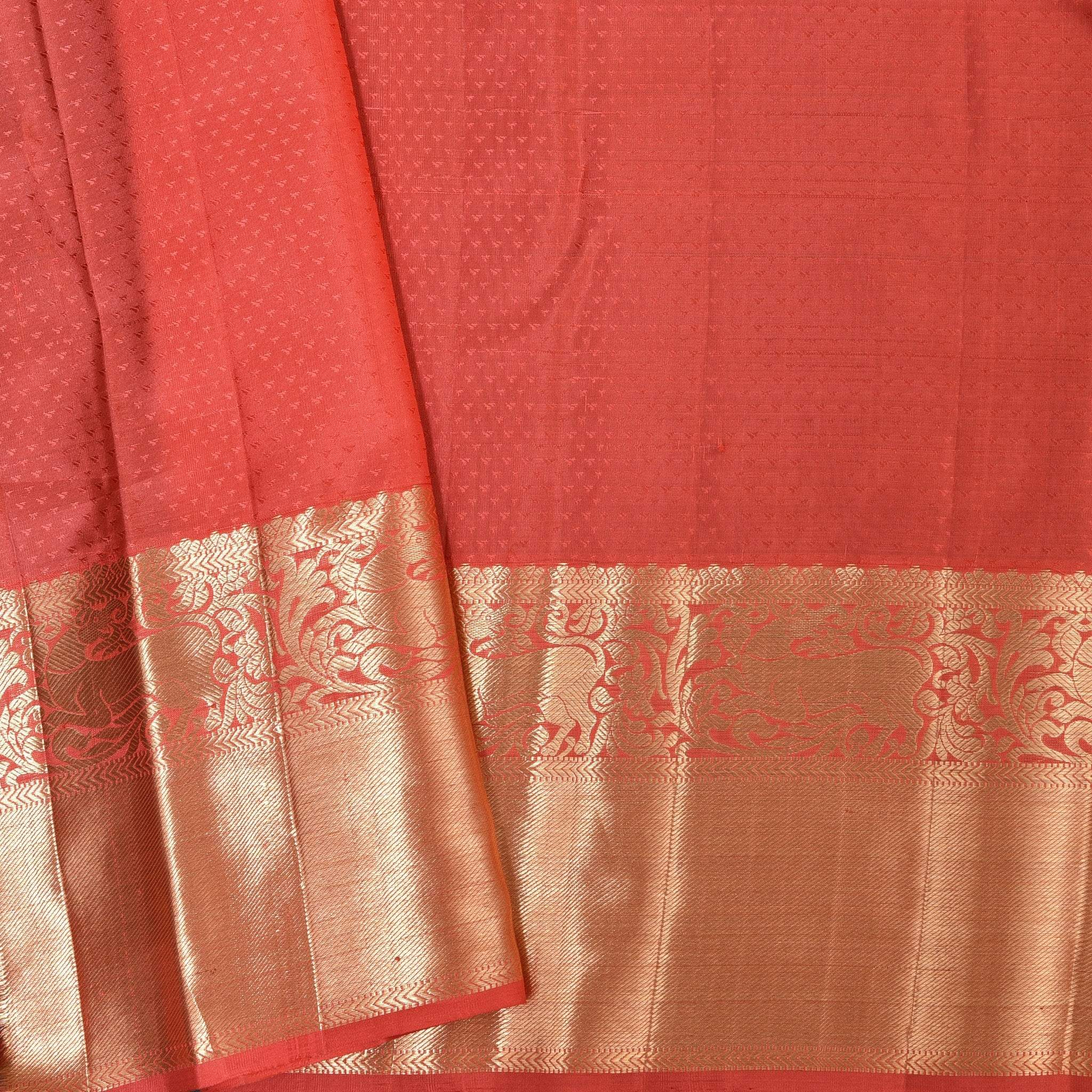 BB084848-Cream White Handloom KanjIvaram Silk Saree