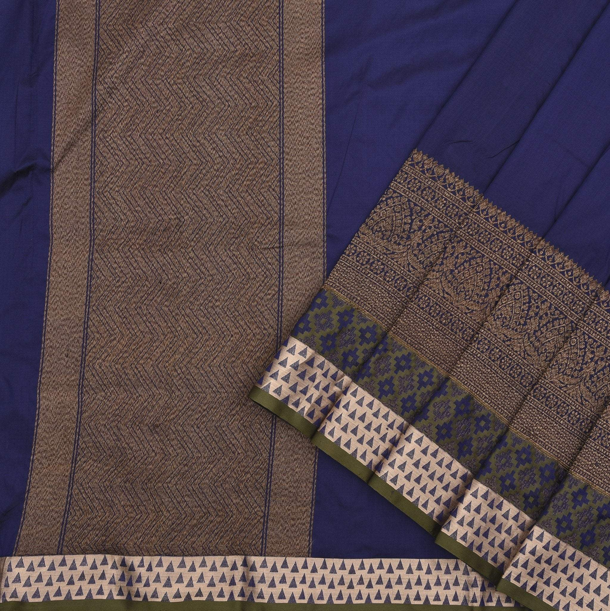 Navy-Blue-Banarasi-Silk-Handloom-Saree
