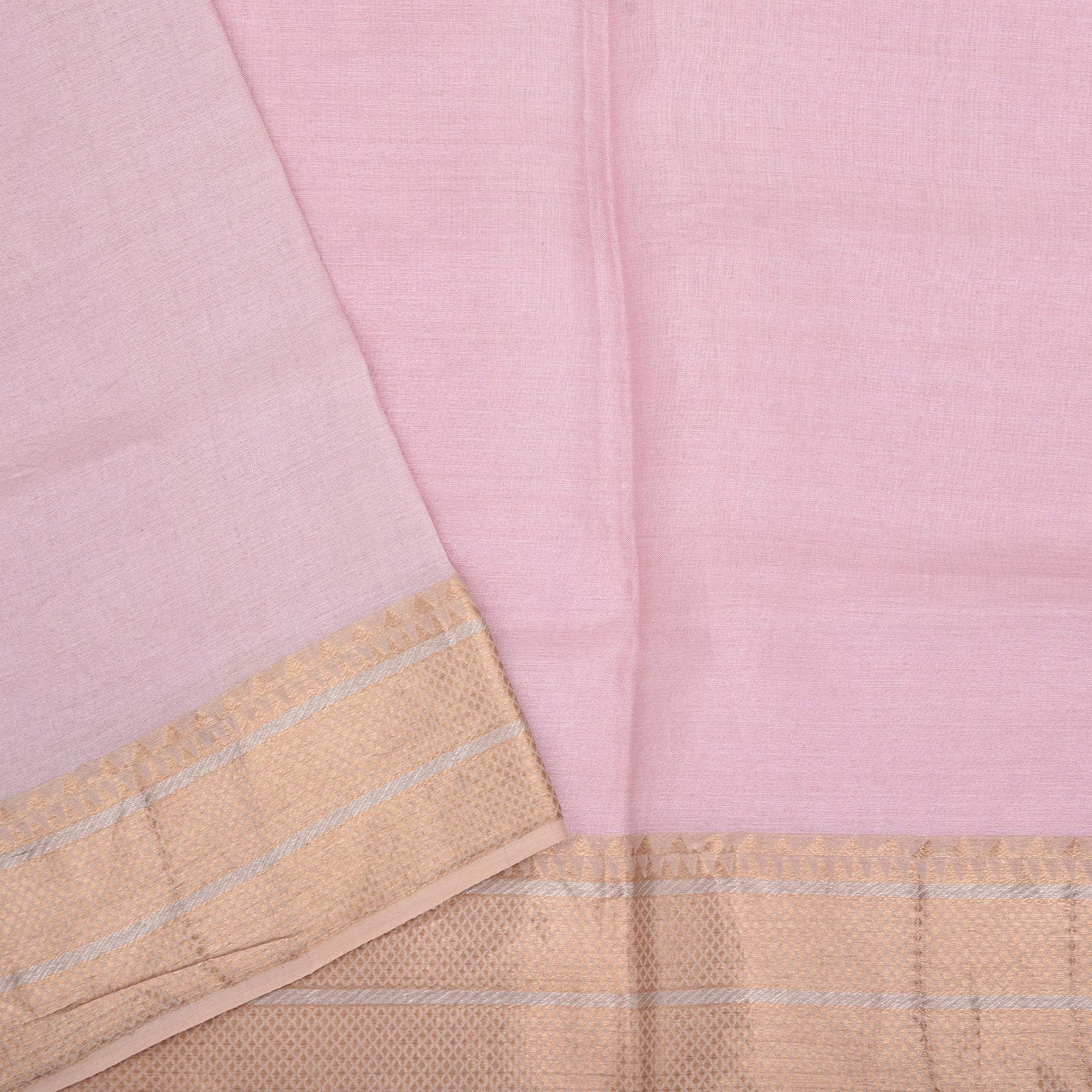BB085465-Rose Pink Handloom Tussar Embroidered Saree