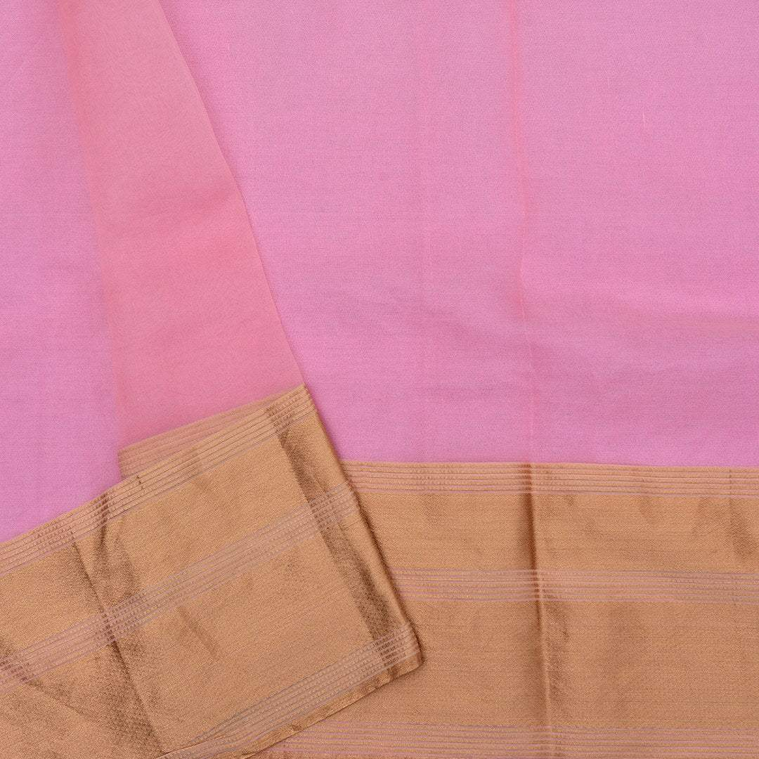 BB092340-Bubblegum Pink Organza Saree with Floral Embroidered jaal.