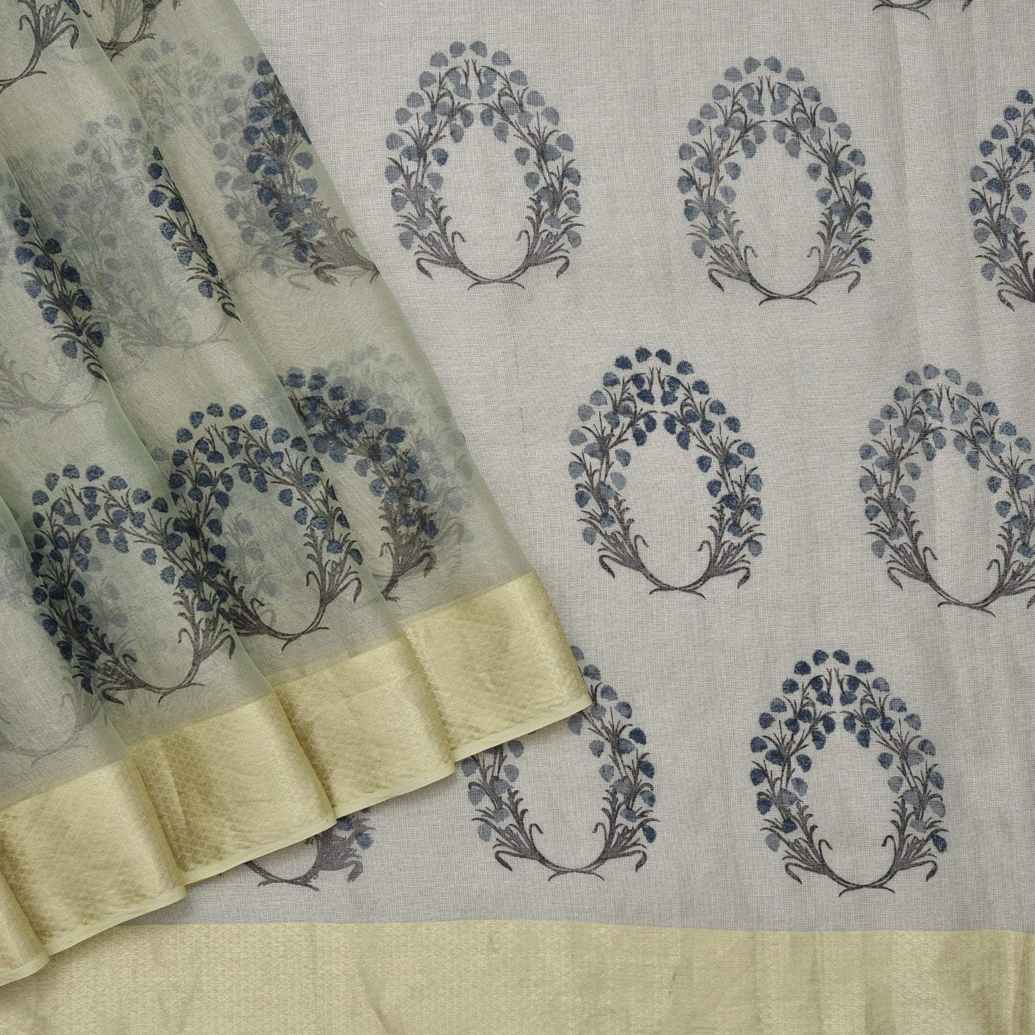 Pale-Sea-Green-Chanderi-printed-Handloom-Saree