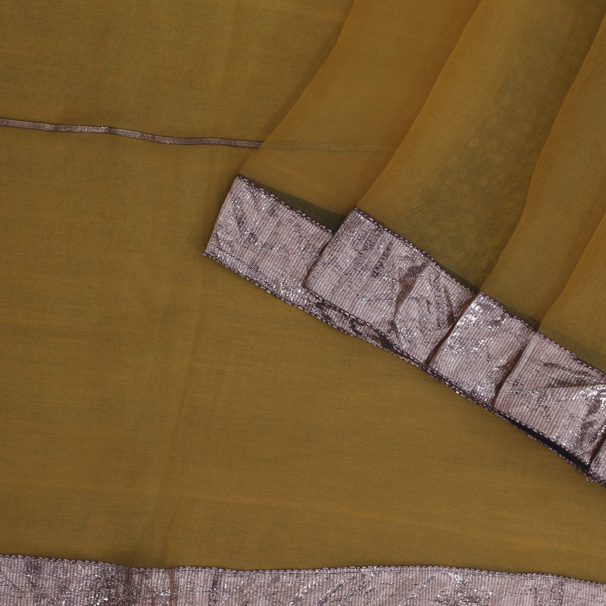 Medallion-Yellow-Organza-Designer-Saree