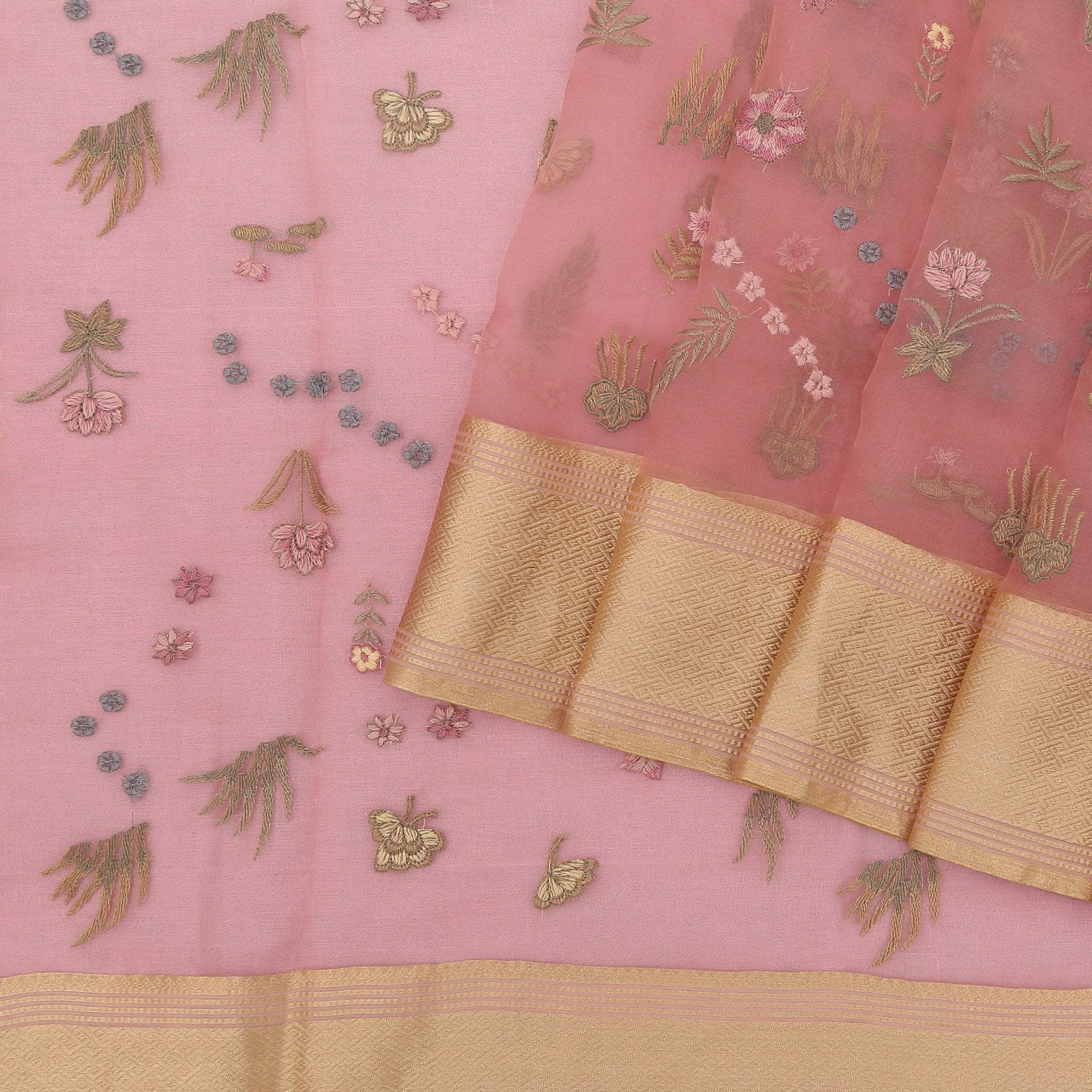 Blush-Pink-Organza-Saree-with-Threadwork-Embroidery.
