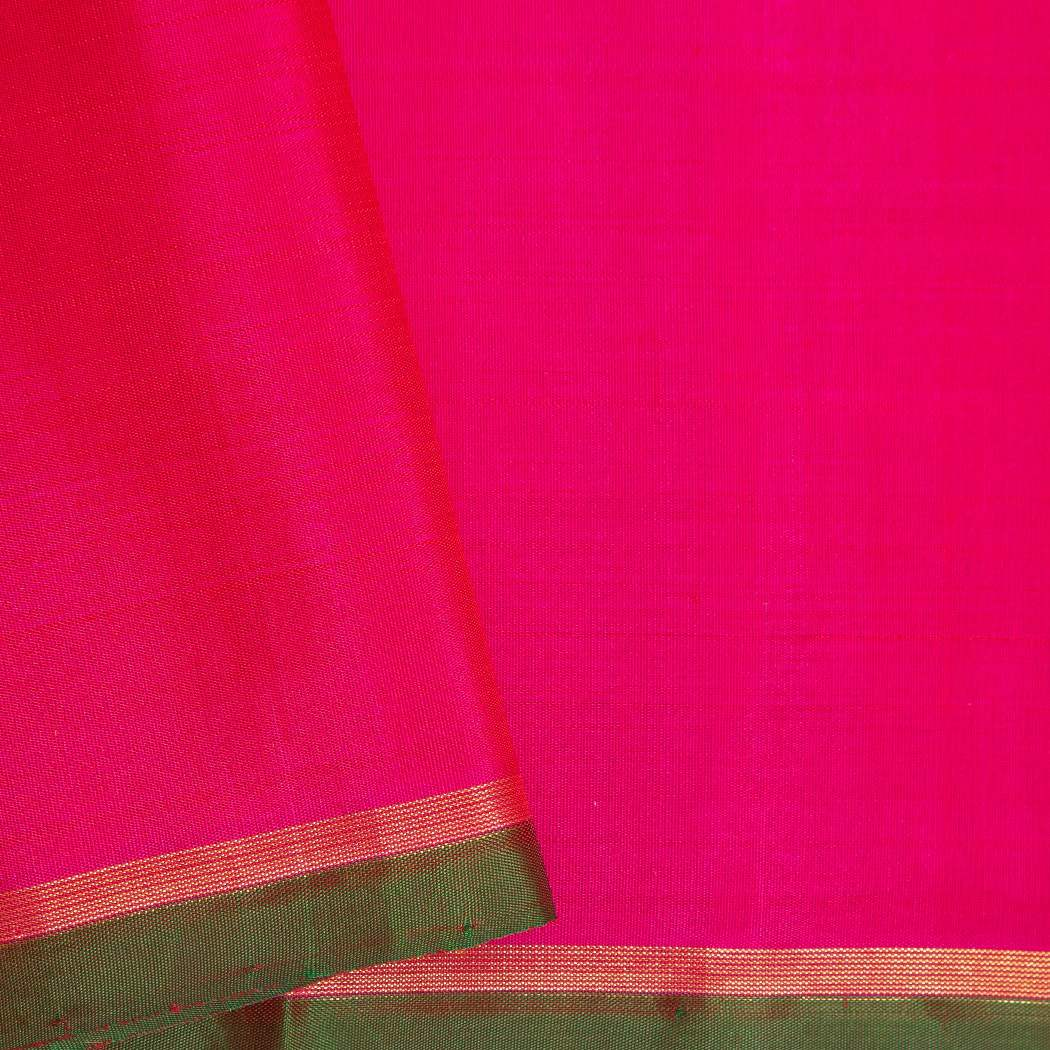 BB095962-Hot Pink Kanjivaram Silk Handloom Saree With Paisley Motifs