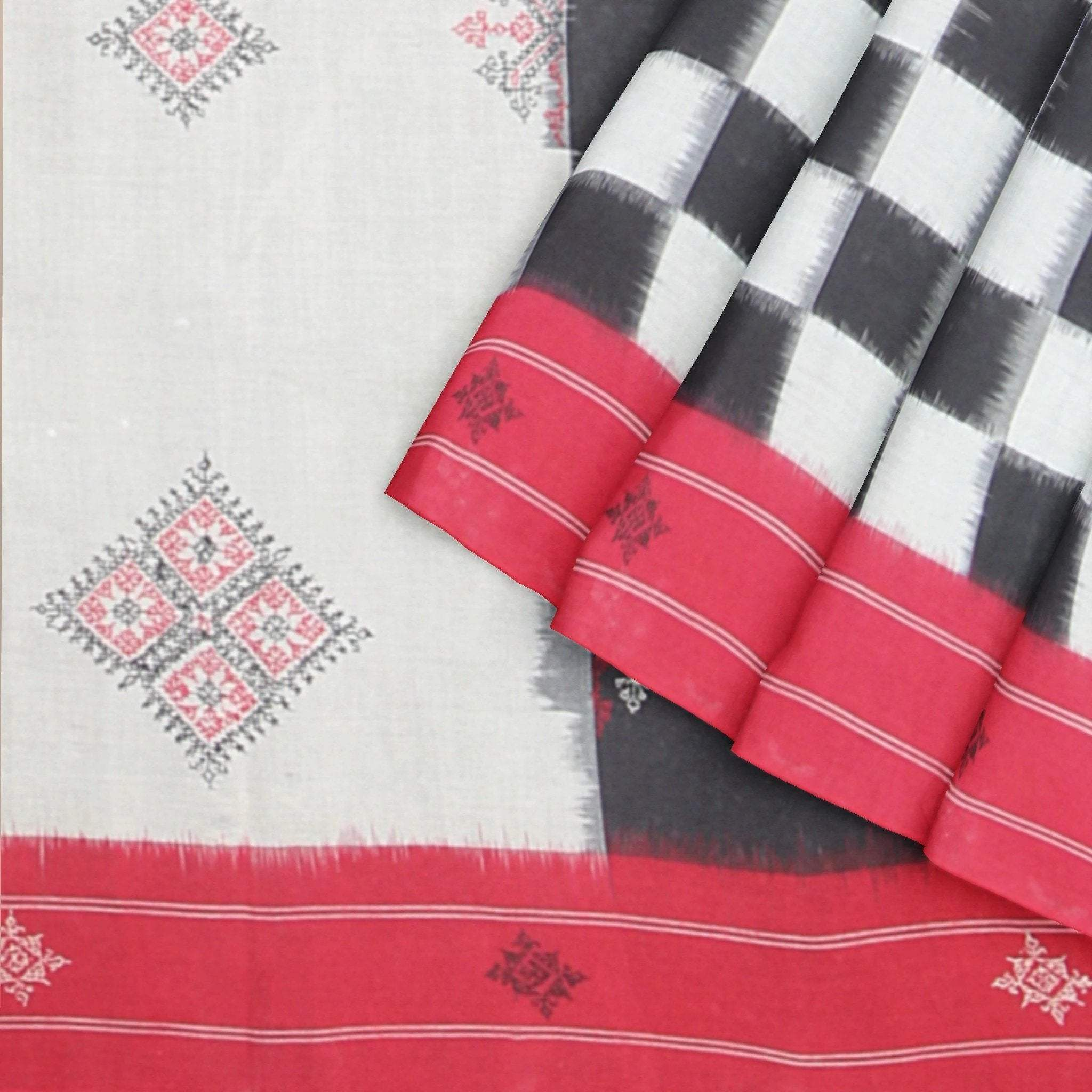Cotton-Handloom-Ikat-Saree