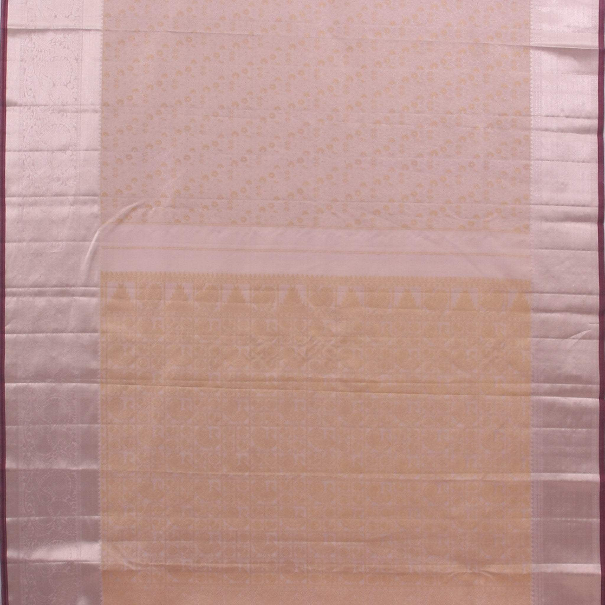 BB100923-Light Lavender Handloom Kanjivaram Silk Saree