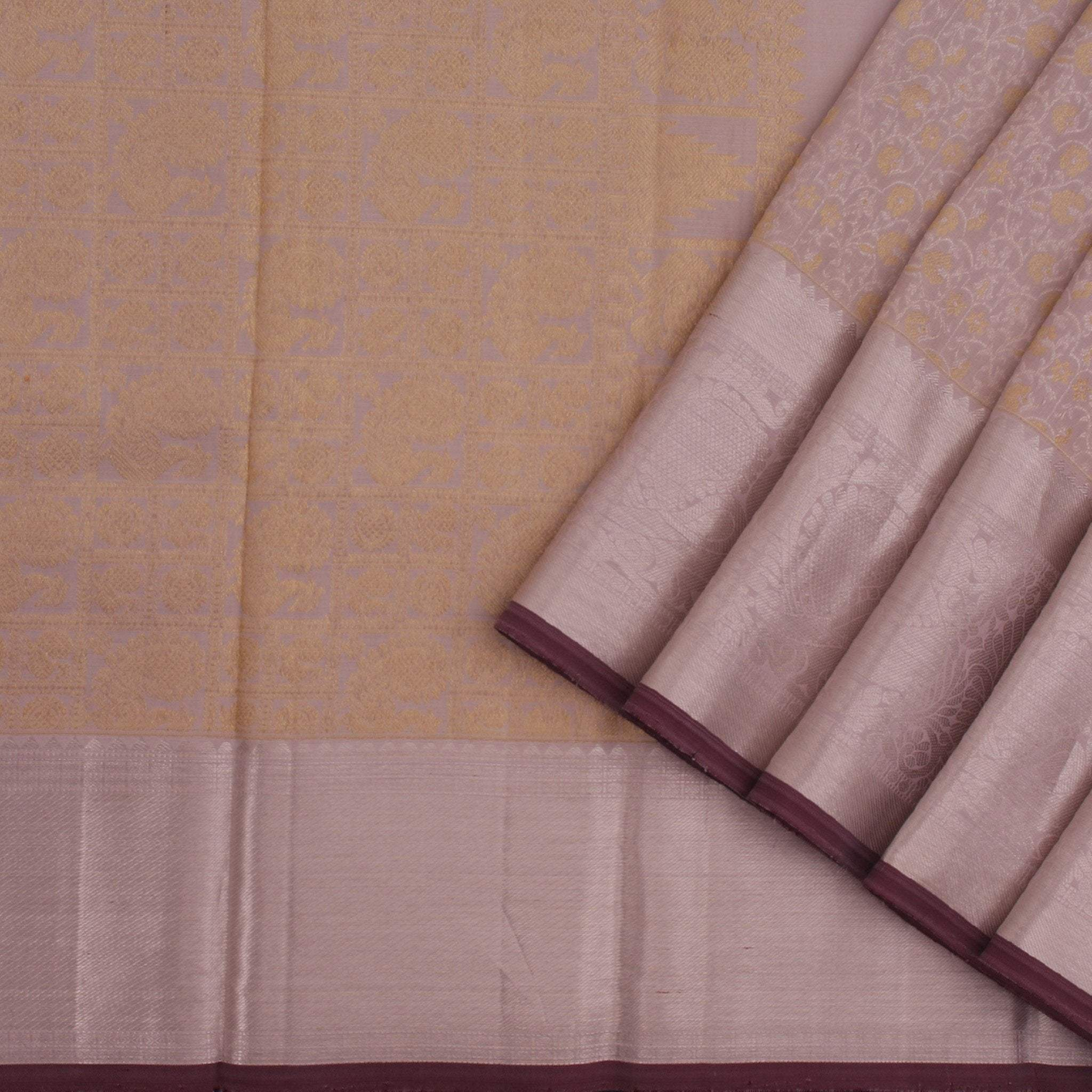 Light-Lavender-Handloom-Kanjivaram-Silk-Saree