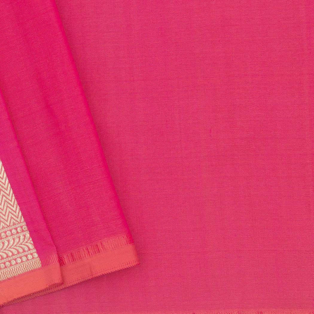 BB101523-Punch Pink Banarasi Silk Handloom Saree With Jaal