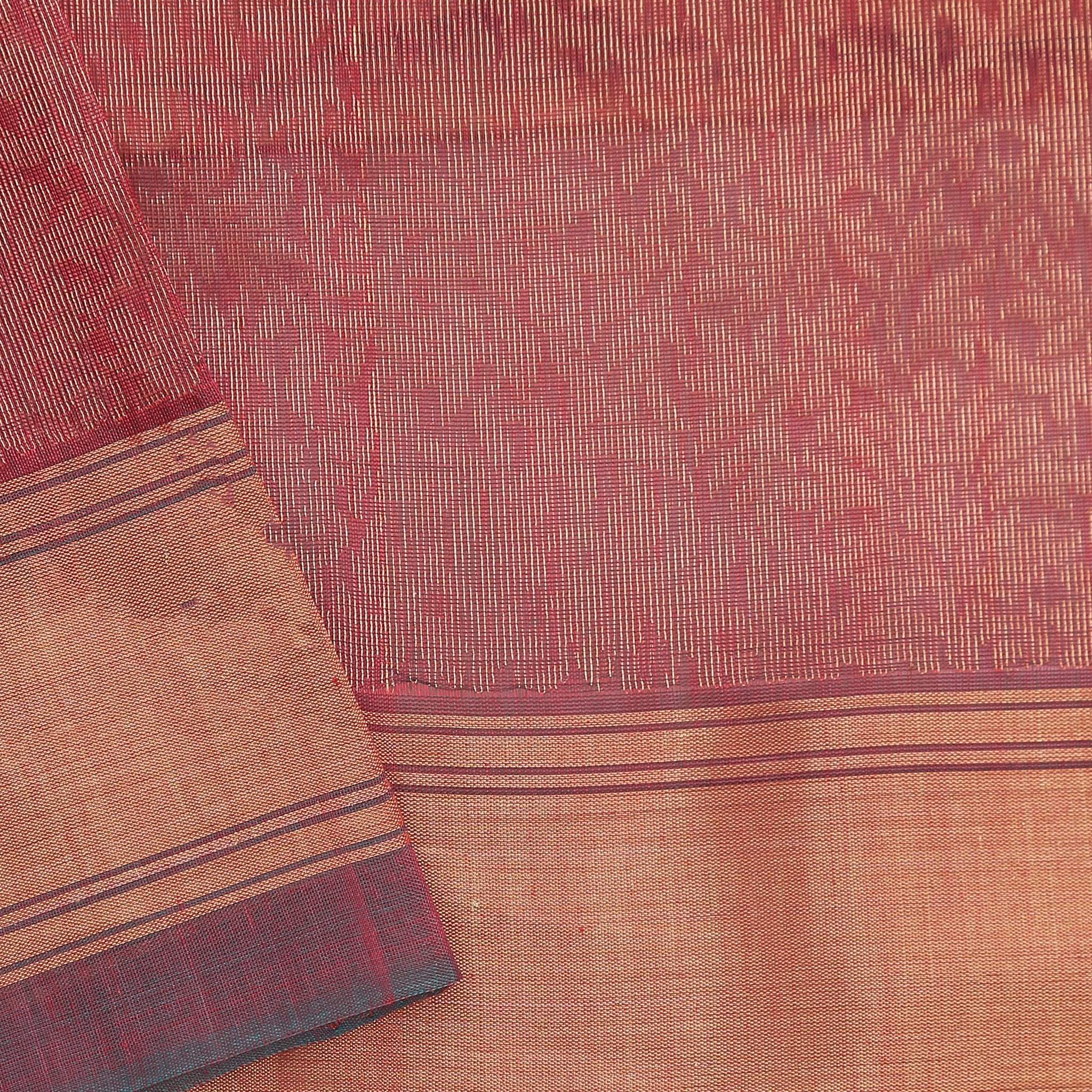 BB102639-Hot Pink Cotton Saree with gold zari buttas