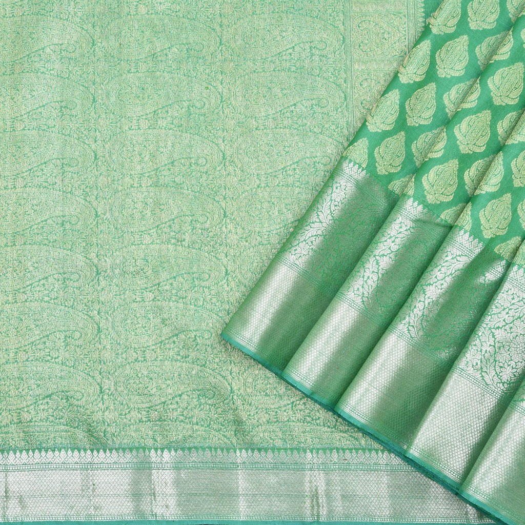 Fern-Green-Handloom-Kanjivaram-Silk-Saree