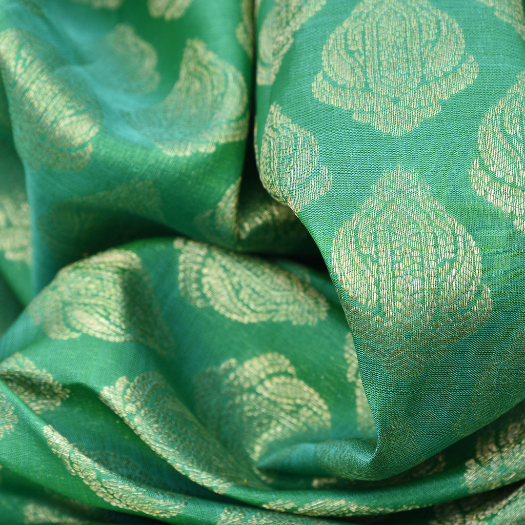 Fern Green Handloom Kanjivaram Silk Saree
