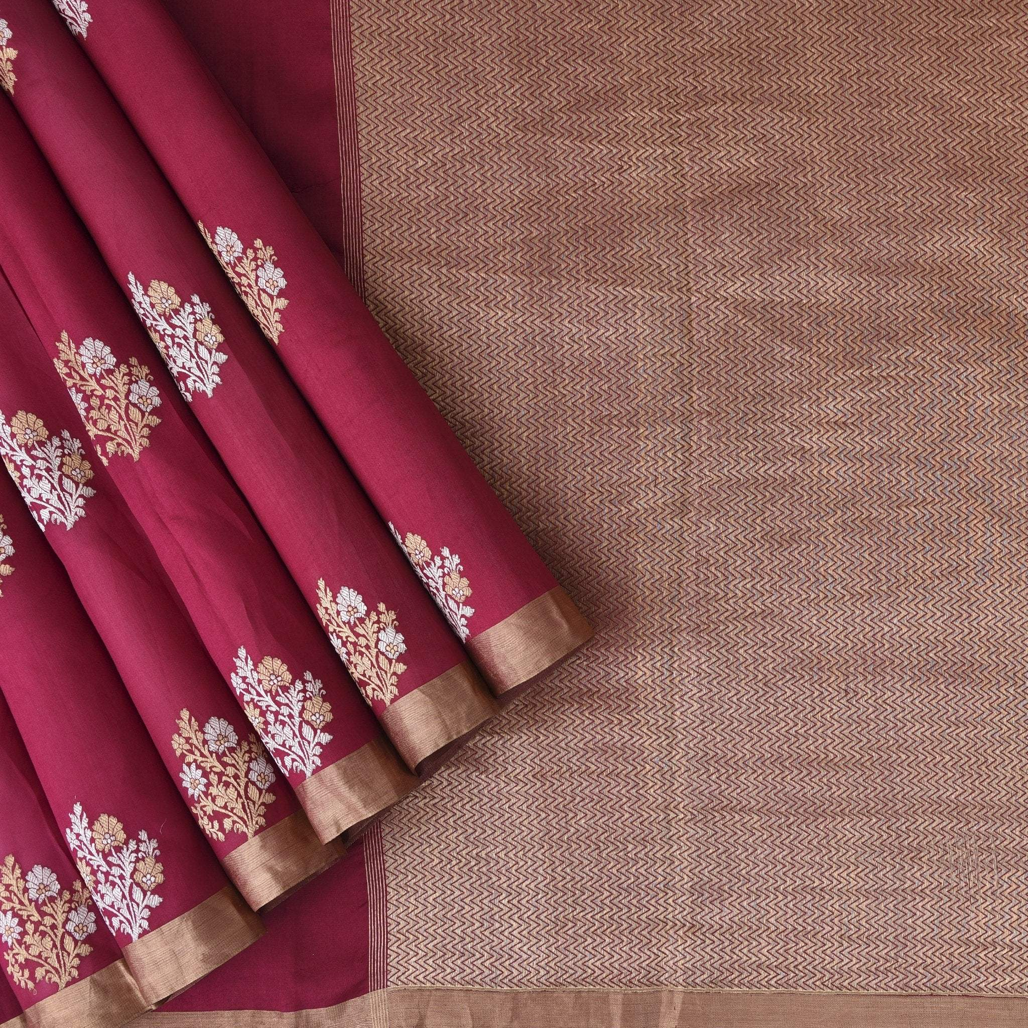 Berry-Pink-Handloom-Chanderi-Saree