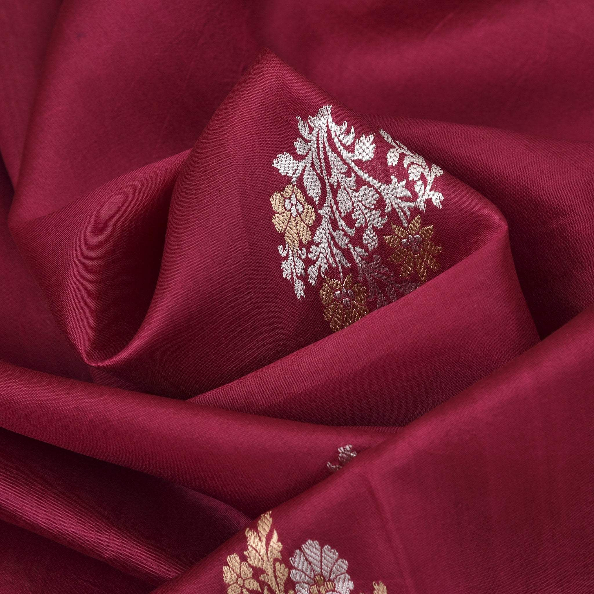 BB106785-Berry Pink Handloom Chanderi Saree