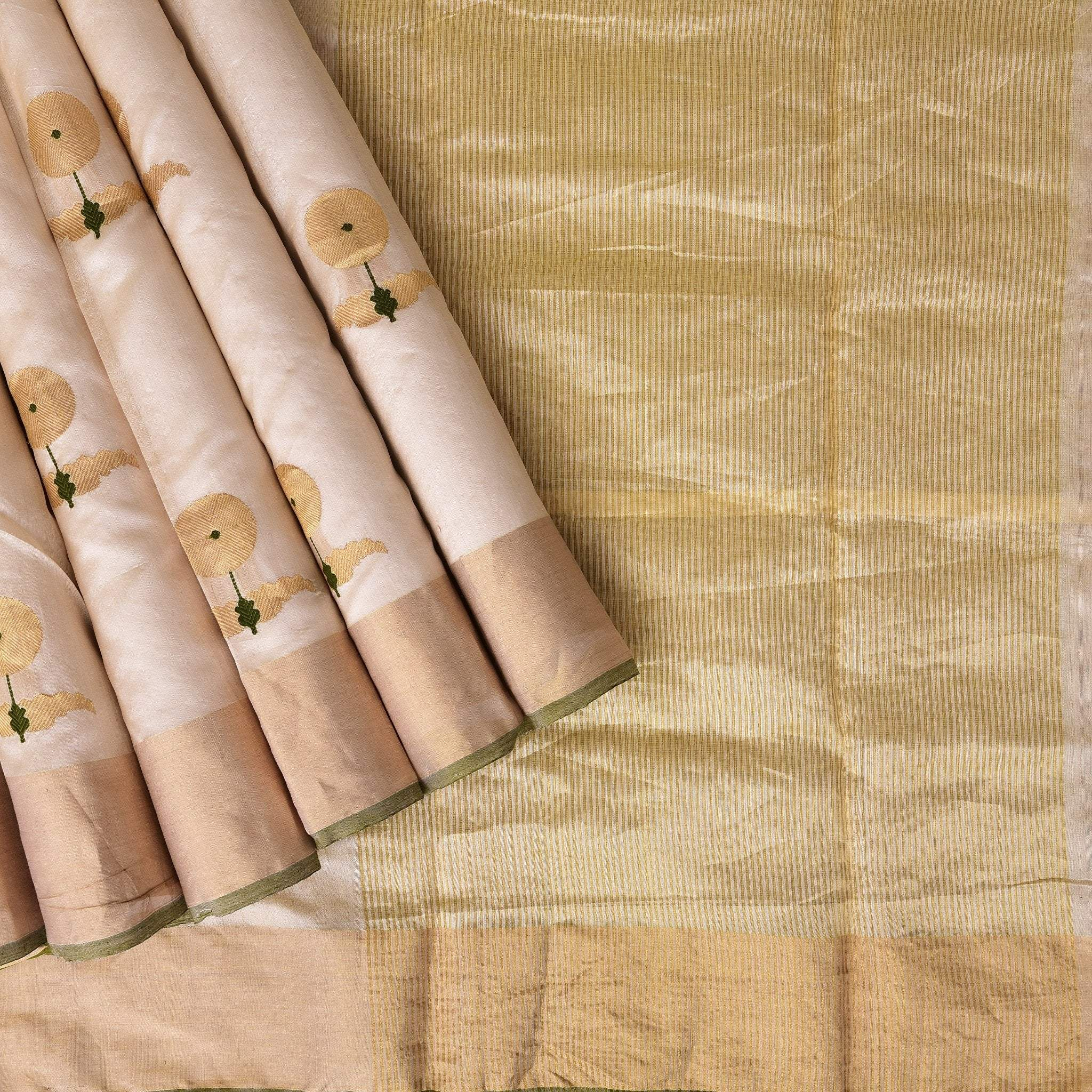 Blush-Peach-Handloom-Chanderi-Saree