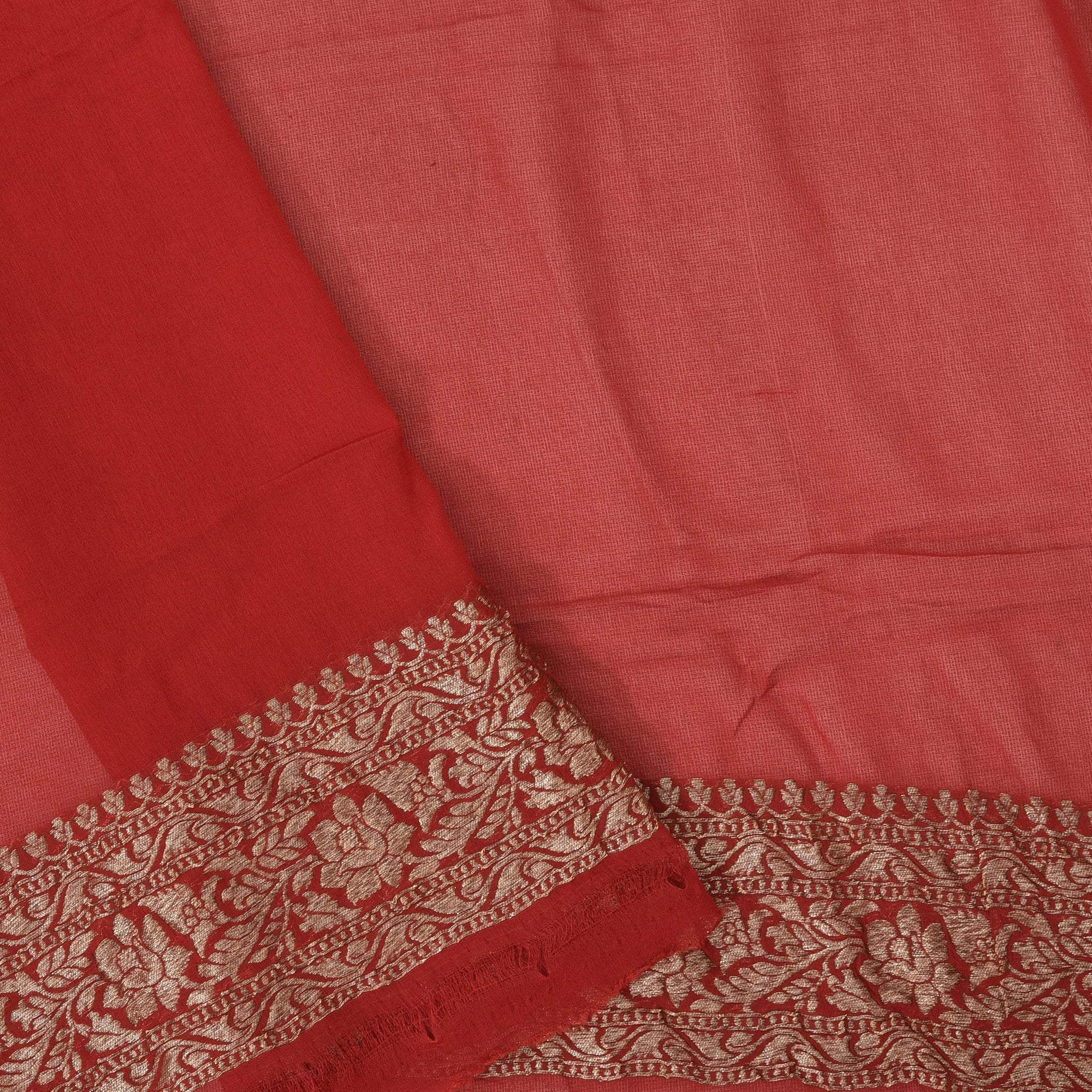 BB106981-Crimson Red Banarasi Georgette Saree