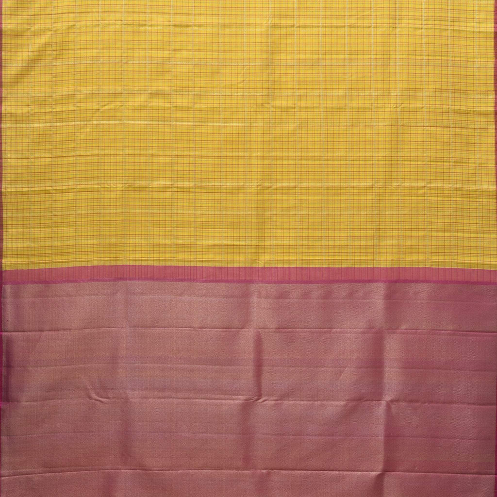 Daffodil Yellow Kanjivaram Silk Handloom Saree