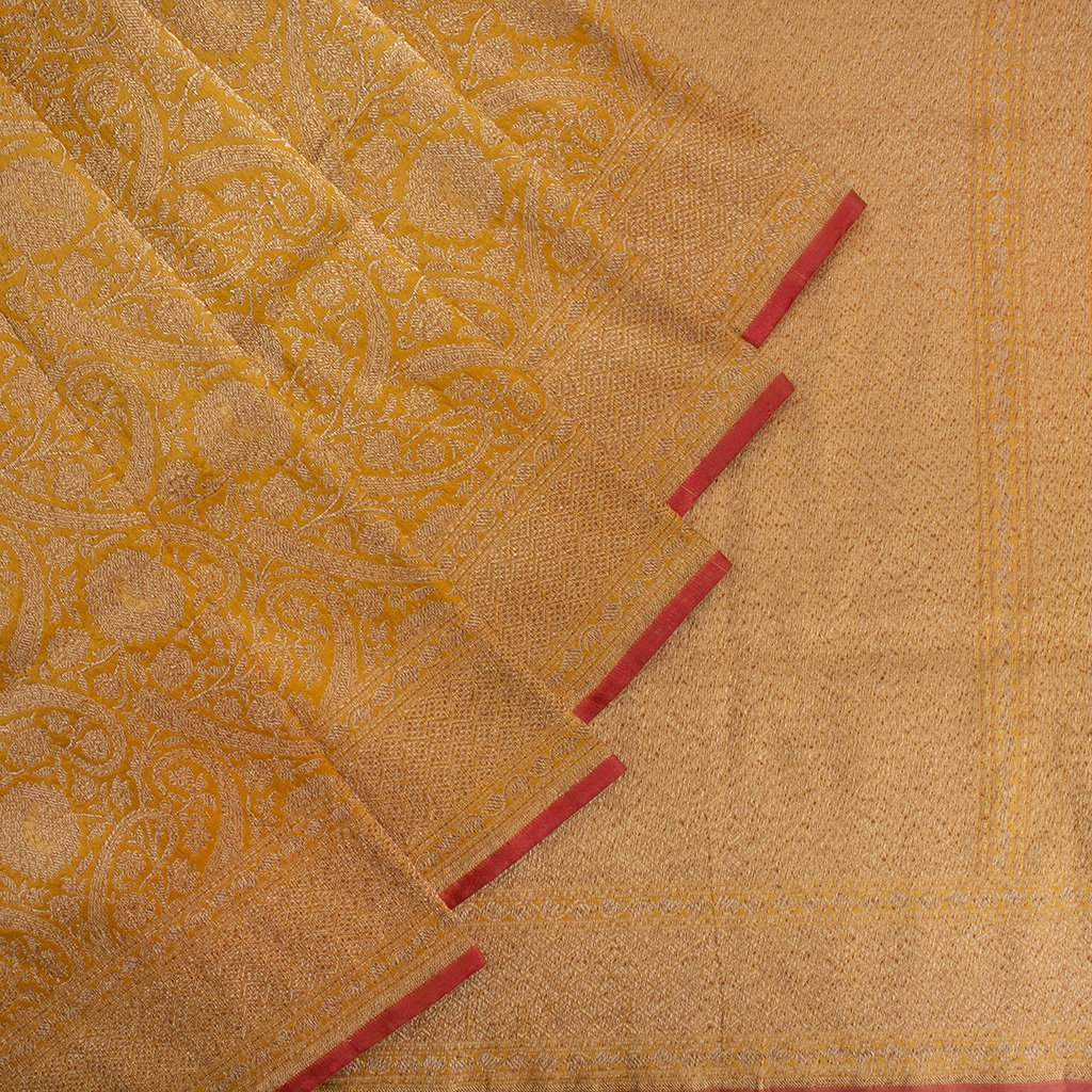 Mustard-Yellow-Banarasi-Katan-Silk-Handloom-Saree