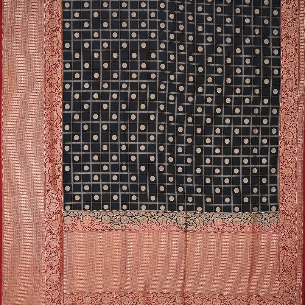SALEBB110071-Jade Black Banarasi Handloom Silk Saree