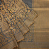 Buy Deep Grey Banarasi Tussar Handloom Saree