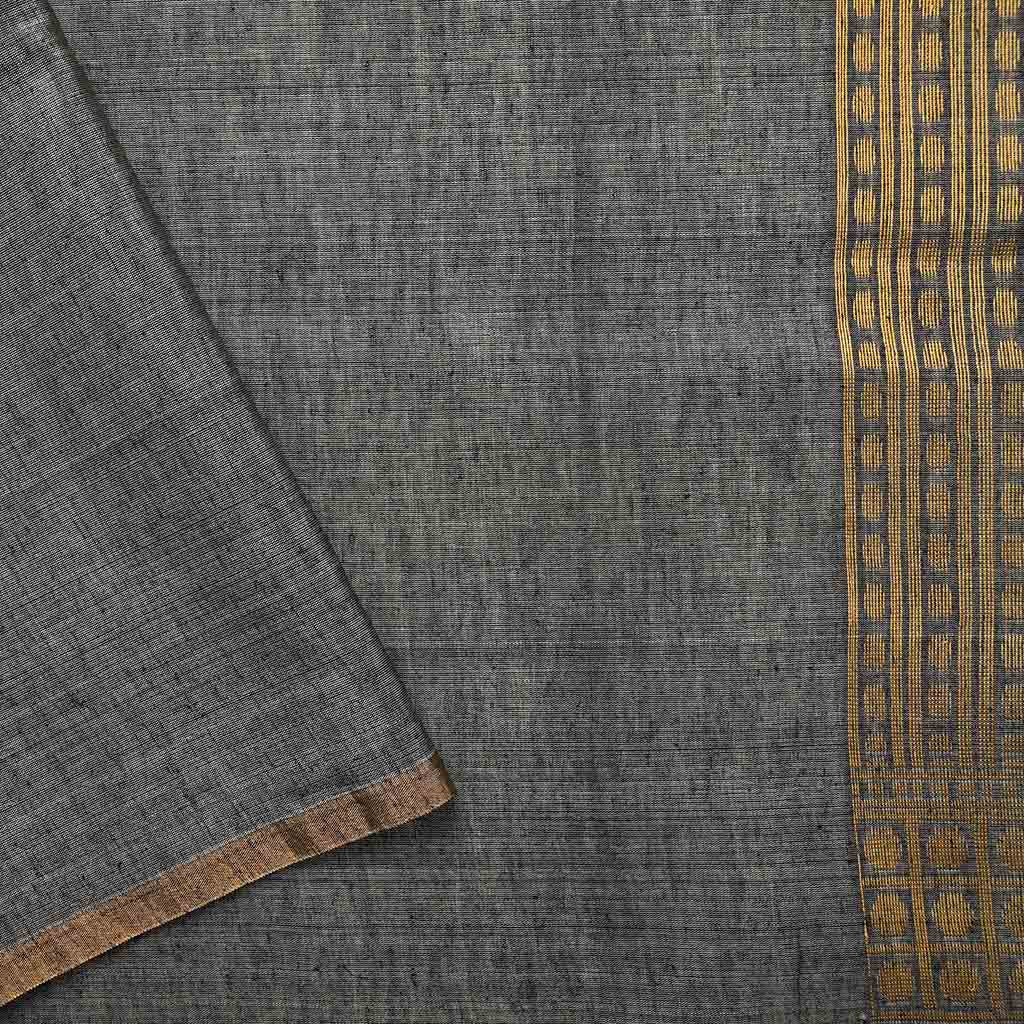 SALEBB110421-Deep Grey Banarasi Tussar Handloom Saree