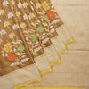 Buy Peanut Brown Banarasi Handloom Silk Saree