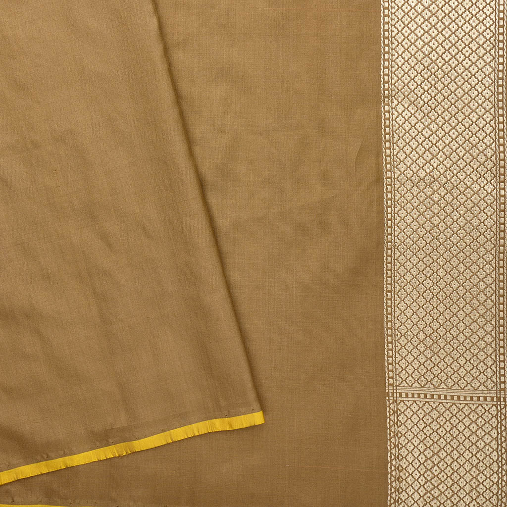 SALEBB110556-Peanut Brown Banarasi Handloom Silk Saree