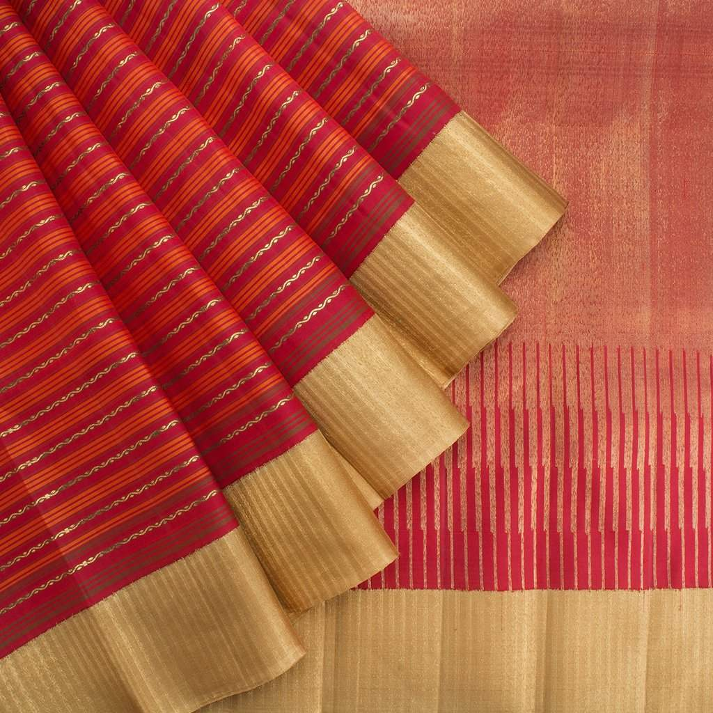 Berry-Red-Korvai-Kanjivaram-Silk-Handloom-Saree