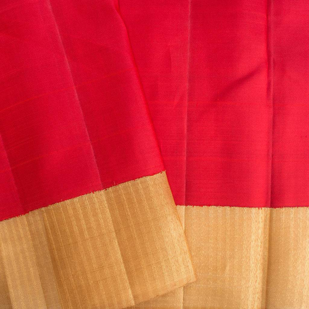 Berry Red Kanjivaram Silk Handloom Saree