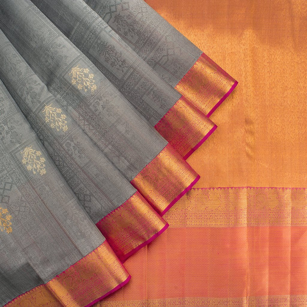 Grey-Korvai-Kanjivaram-Silk-Handloom-Saree