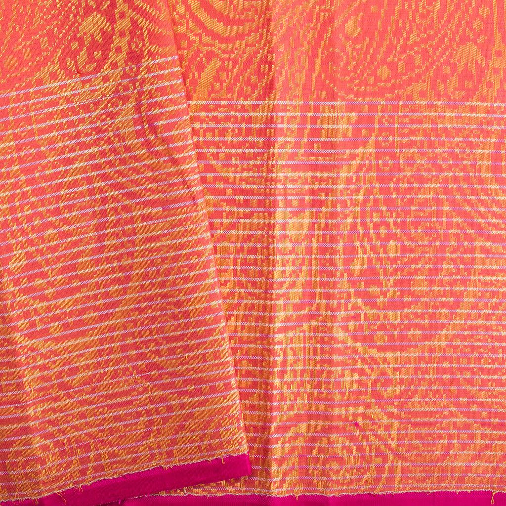 Grey Korvai Kanjivaram Silk Handloom Saree