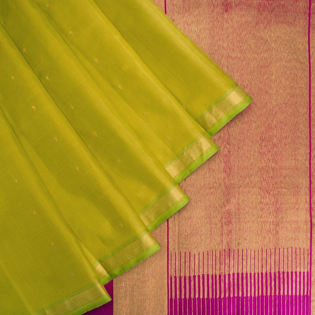 Lime-Green-Kanjivaram-Silk-Handloom-Saree