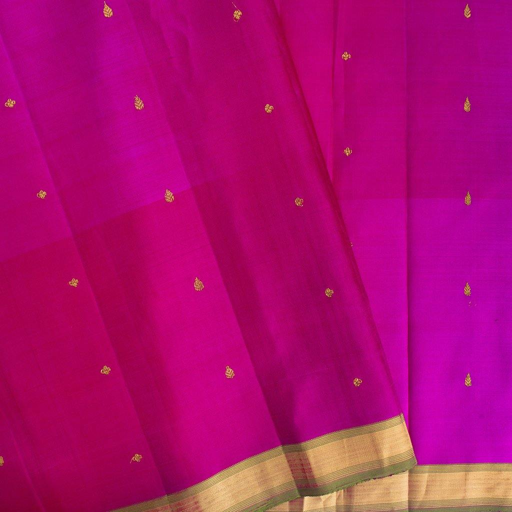 BB111634-Lime Green Kanjivaram Silk Handloom Saree with Big Border